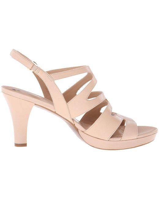 4985ed8afba ... Naturalizer - Brown Pressley (taupe Leather) High Heels - Lyst ...