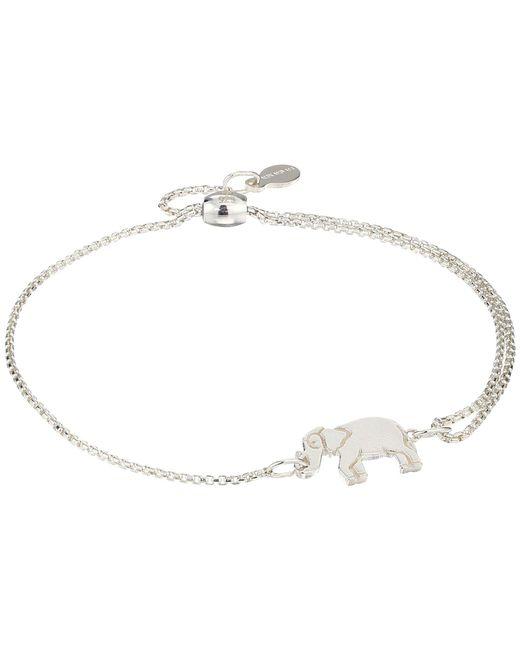 ALEX AND ANI - Metallic Elephant Pull Chain Bracelet - Precious Metal (sterling Silver) Bracelet - Lyst