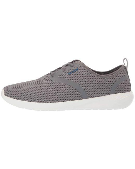 4cef43d8c4ae Lyst - Crocs™ Literide Mesh Lace (black white) Men s Shoes in White ...
