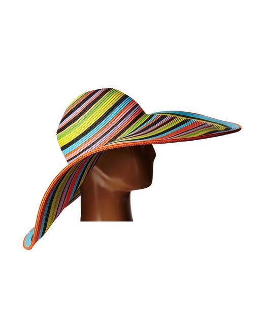 7df2d424ee5 ... San Diego Hat Company - Ubx2721 Striped Floppy 8 Inch Brim Sun Hat  (multi Black ...