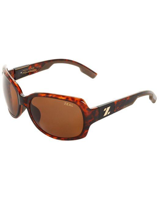 Zeal Optics - Red Penny Lane Polarized (matte Demi Tortoise W / Dark Grey Polarized Lens) Sport Sunglasses - Lyst