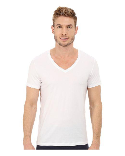 Hanro - Cotton Superior V-neck Shirt (white) Men's Pajama for Men - Lyst