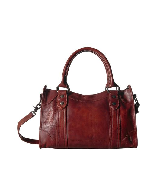 Frye - Red Melissa Satchel (cognac Antique Pull Up) Satchel Handbags - Lyst