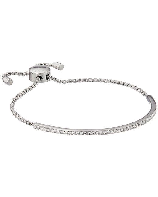 Michael Kors - Metallic Brilliance Pave Bar Slider Bracelet (silver) Bracelet - Lyst