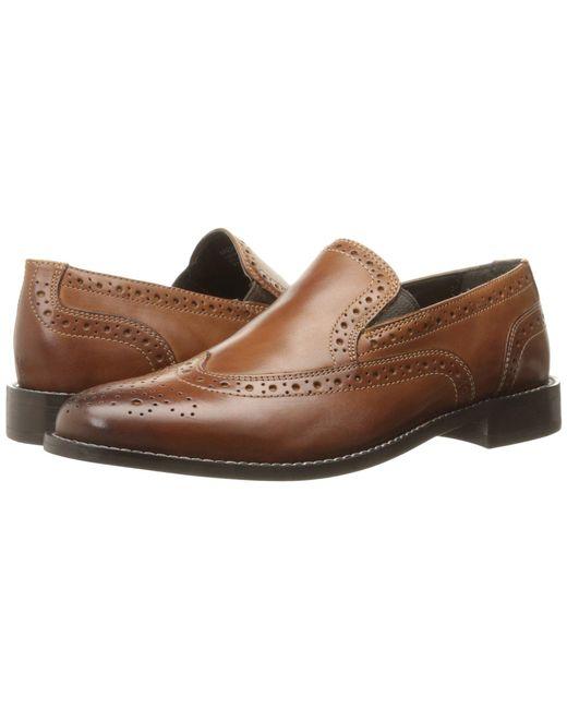 Nunn Bush - Brown Norris Wing Tip Double Gore Dress Casual Slip-on (black) Men's Slip-on Dress Shoes for Men - Lyst