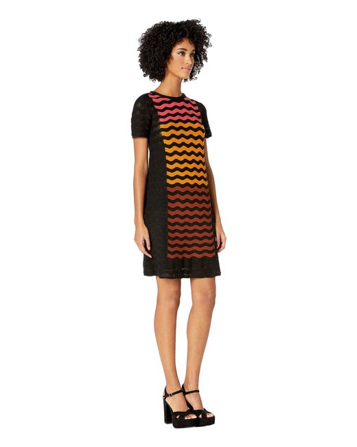 59c0d51c056b8f ... M Missoni - Ripple Intarsia Short Sleeve Dress (black) Women s Dress ...