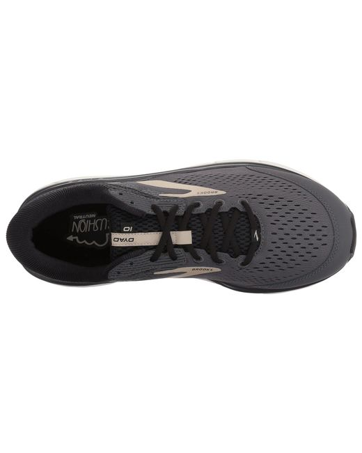 9b81721531c Lyst - Brooks Dyad 10 (grey black tan) Men s Running Shoes in Black ...