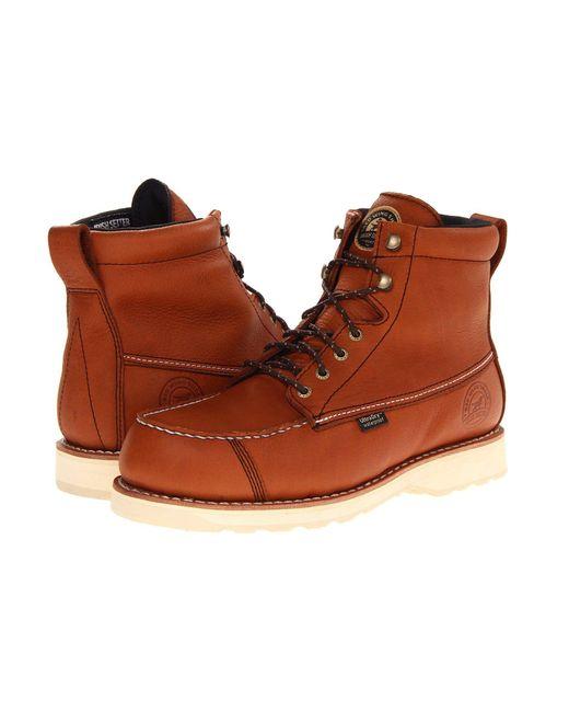 Irish Setter - Brown Wingshooter 7 Soft Toe (amber) Men's Work Boots for Men - Lyst