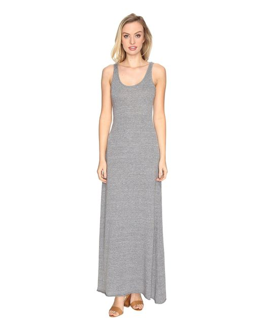Alternative Apparel | Gray Eco Jersey Double Scoop Tank Dress | Lyst