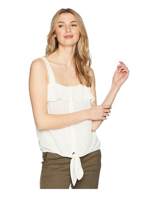 1.STATE - Sleeveless Tie Front Button Down Blouse (antique White) Women's Sleeveless - Lyst