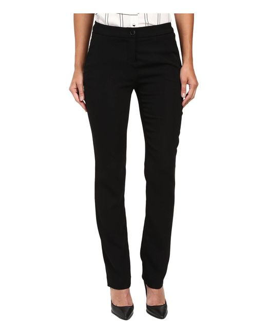 Ivanka Trump - Black Crepe Straight Leg Pants (navy) Women's Clothing - Lyst