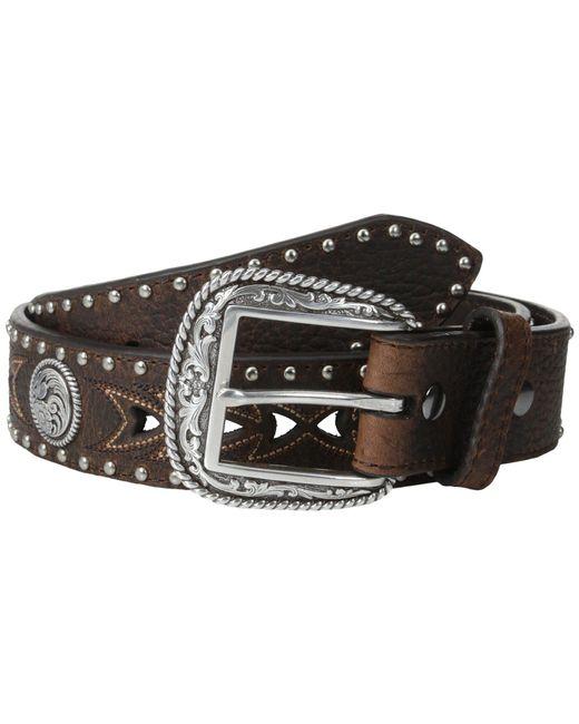 Ariat - Arrow Pierced Concho Belt (brown) Men's Belts for Men - Lyst