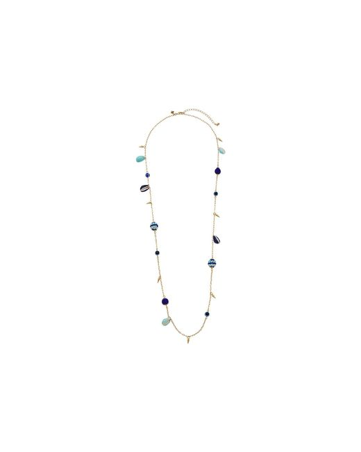 Rebecca Minkoff - Multicolor Blair Beaded Ball Stations Necklace (blue Multi/gold) Necklace - Lyst