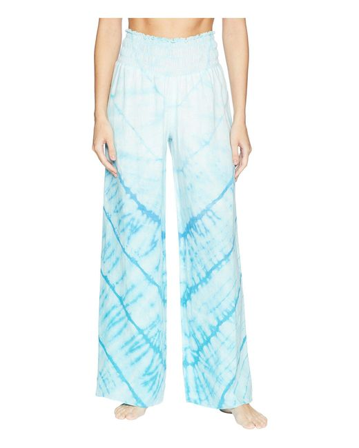 Hard Tail - Blue Smocked Waist Pants (skeleton Horizon 4) Women's Casual Pants - Lyst