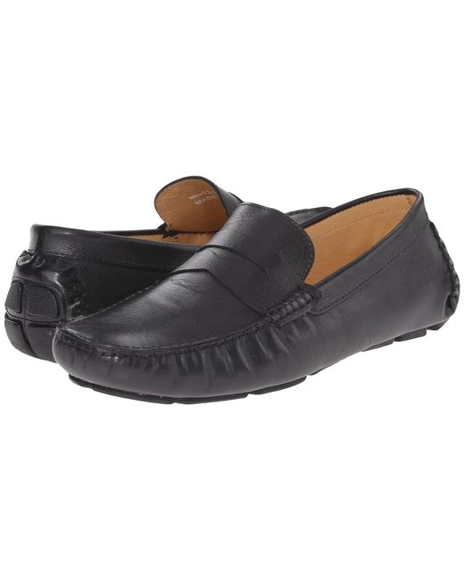 Massimo Matteo - Black Saffiano Penny Moc (tan) Men's Lace Up Moc Toe Shoes for Men - Lyst