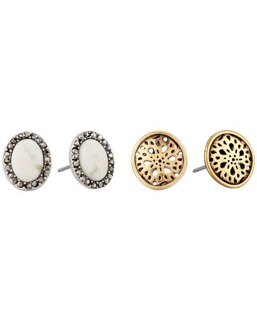 Lucky Brand - Multicolor Stud Earrings Set (two-tone) Earring - Lyst