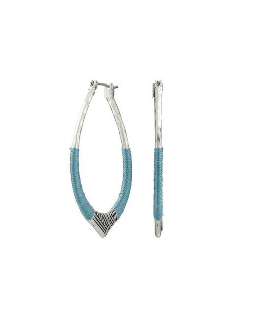 The Sak - Blue Thread Arabesque Hoop Earrings - Lyst