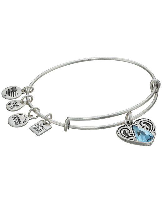 ALEX AND ANI - Metallic Charity By Design - Living Water Ii Bangle (rafaelian Gold) Bracelet - Lyst