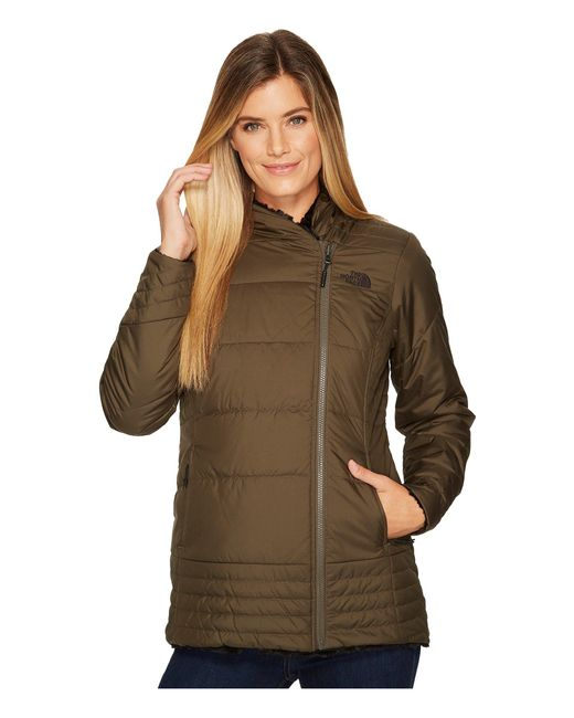 The North Face - Mossbud Swirl Parka (new Taupe Green/tnf Black) Women's Coat - Lyst