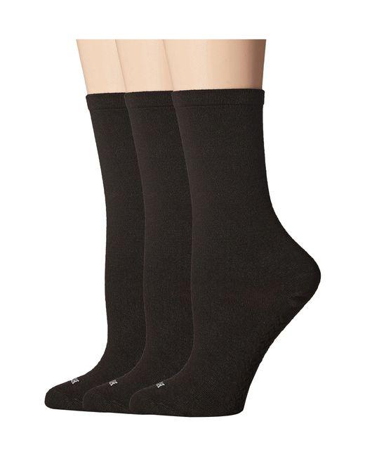 Hue - Massaging Sole Socks 3-pack (black) Women's Crew Cut Socks Shoes - Lyst