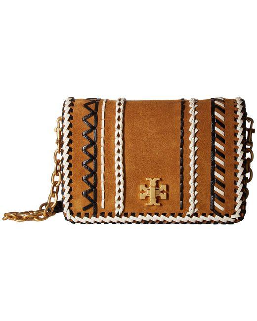 Tory Burch - Brown Kira Whipstitch Mini Crossbody (hazel) Cross Body Handbags - Lyst
