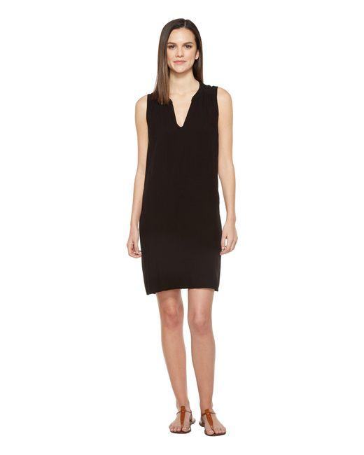 Michael Stars | Black Modern Rayon Sleveeless V-neck Dress | Lyst