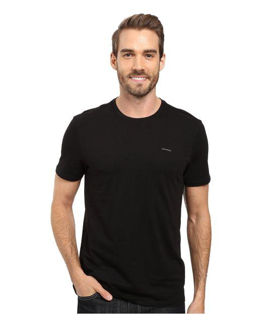 Calvin Klein | Black Short Sleeve Pima Cotton Crew T-shirt for Men | Lyst