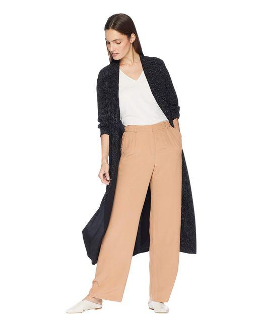 Eileen Fisher - Morse Code Kimono Long Jacket With Belt (black) Women's Coat - Lyst