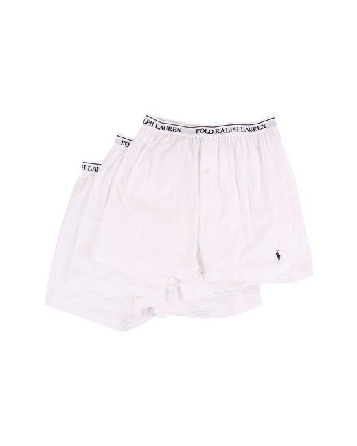Polo Ralph Lauren   White 3-pack Knit Boxer for Men   Lyst