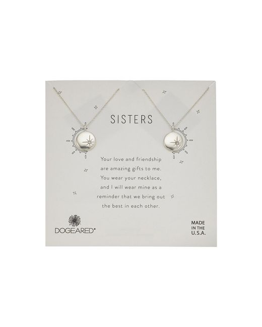 Dogeared - Metallic Sisters, Small Star Disc With Crystal, Set Of 2 Necklaces (gold) Necklace - Lyst