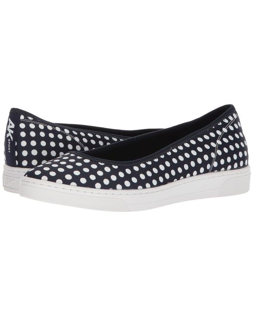 Anne Klein - Blue Overthetop (navy/navy/white Fabric) Women's Flat Shoes - Lyst