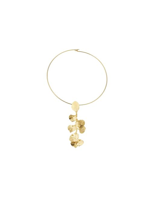 Kenneth Jay Lane - Metallic Satin Gold Flower Front Wire Necklace (gold) Necklace - Lyst