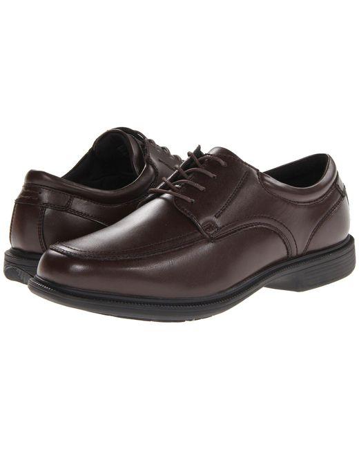 Nunn Bush - Black Bourbon Street Moc Toe Oxford With Kore Slip Resistant Walking Comfort Technology (brown) Men's Lace Up Moc Toe Shoes for Men - Lyst
