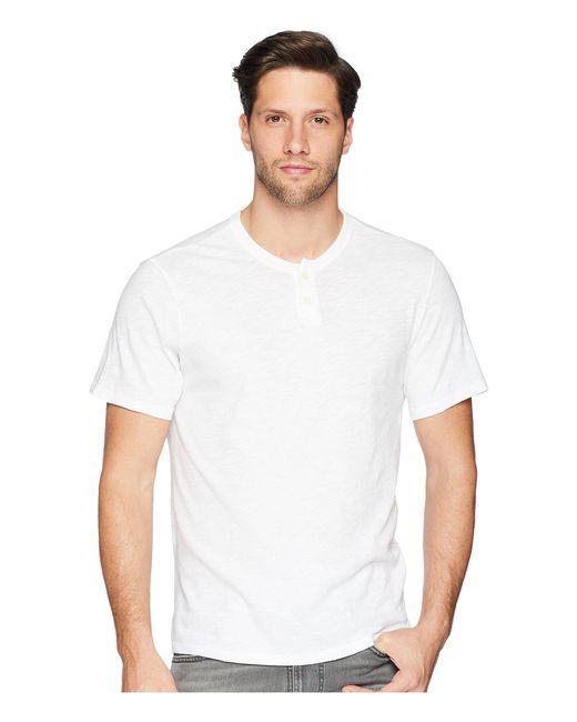 Joe's Jeans - Wintz Short Sleeve Slub Henley (white) Men's Clothing for Men - Lyst