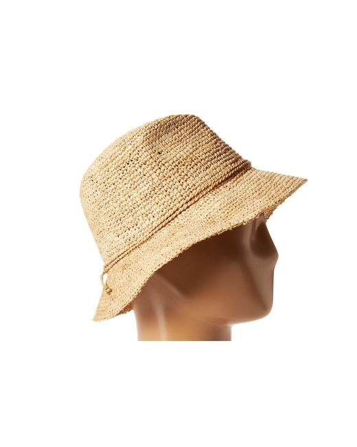 ... San Diego Hat Company - Brown Rhs3106 Crochet Raffia Bucket (natural) Bucket  Caps ... 9c208272e31b