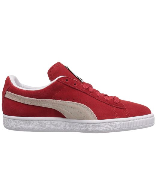66f7a2dfd3ad Lyst - PUMA Suede Classic (high Risk Red white) Women s Shoes in ...