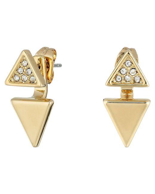 Rebecca Minkoff - Metallic Double Triangle Earrings - Lyst