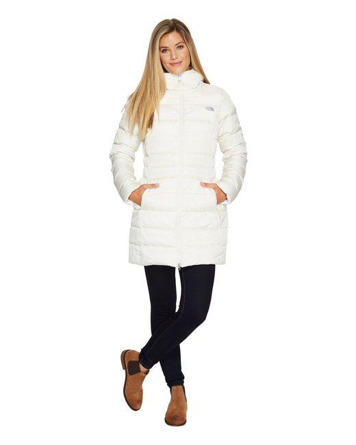 The North Face - White Gotham Parka Ii (tnf Black) Women's Coat - Lyst