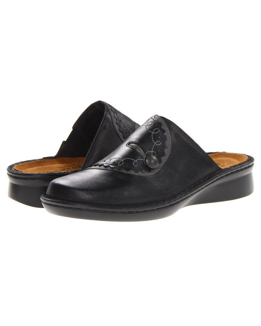 Naot - Encore (black Raven Leather/shadow Gray Nubuck) Women's Shoes - Lyst