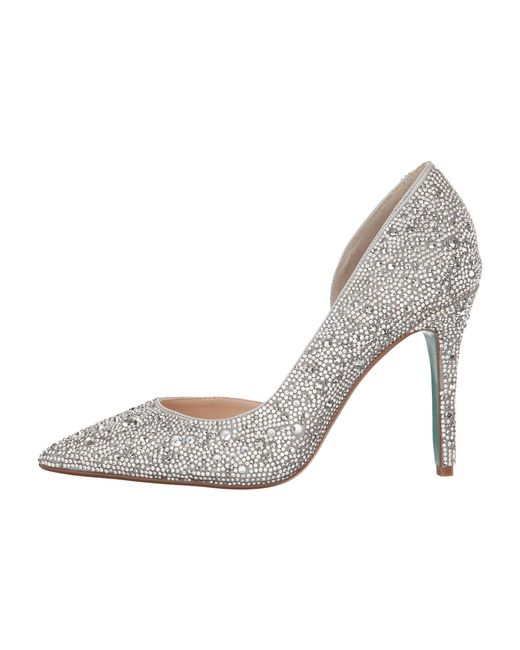 05461a95304 ... Betsey Johnson - Metallic Hazil (silver Satin) High Heels - Lyst ...