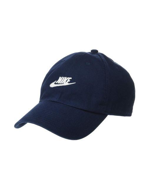 cheaper 85d9c 23440 Nike - Blue Sportswear H86 Futura Washed Cap (white white white) Baseball  ...