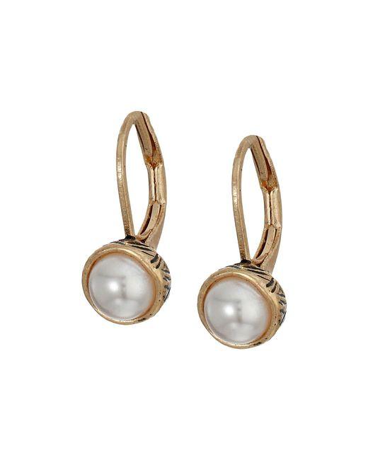 The Sak - Metallic Pearl Leverback Earrings - Lyst