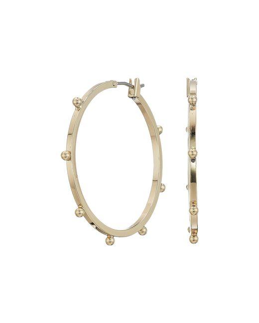 French Connection - Metallic Medium Dot Hoops Earrings (gold) Earring - Lyst