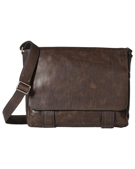 Frye - Multicolor Logan Messenger (slate Antique Pull Up) Messenger Bags for Men - Lyst