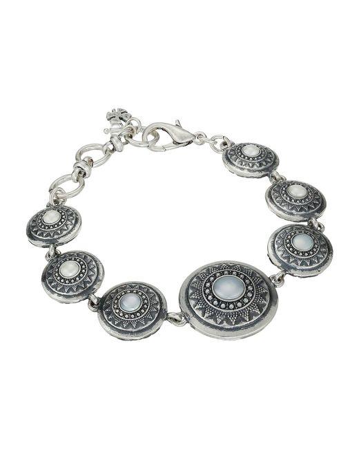 Lucky Brand - Gray Pearl Link Bracelet (medium Grey) Bracelet - Lyst