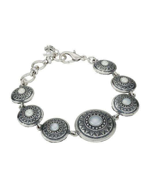 Lucky Brand - Gray Pearl Link Bracelet - Lyst