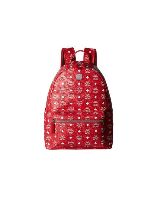 MCM - Red Stark No Stud Medium Backpack (white) Backpack Bags for Men - Lyst