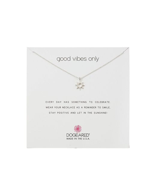 Dogeared - Metallic Good Vibes Only, Radient Sun Pendent Necklace (gold) Necklace - Lyst