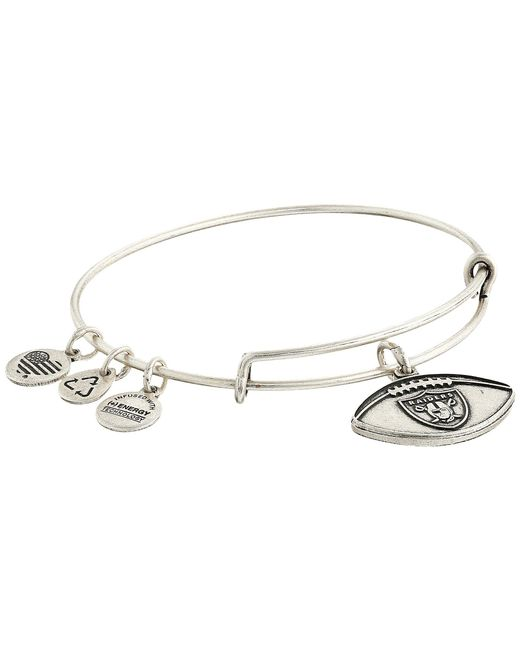 ALEX AND ANI - Metallic Nfl Oakland Raiders Football Bangle - Lyst