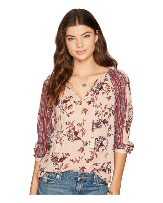 Lucky Brand   Pink Printed Top   Lyst